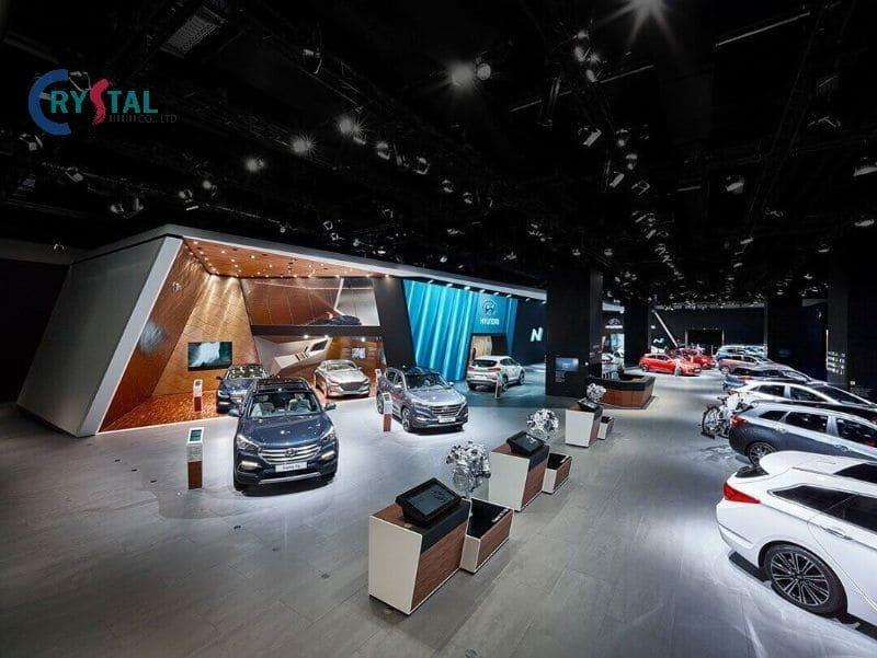 thi công thiết kế showroom xe hơi - Crystal Design TPL