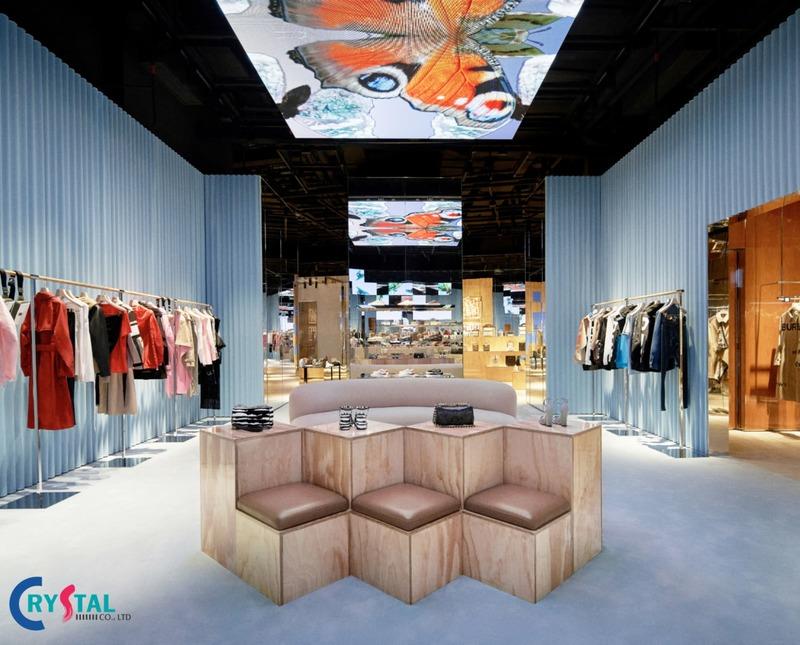 thi công thiết kế showroom - Crystal Design TPL