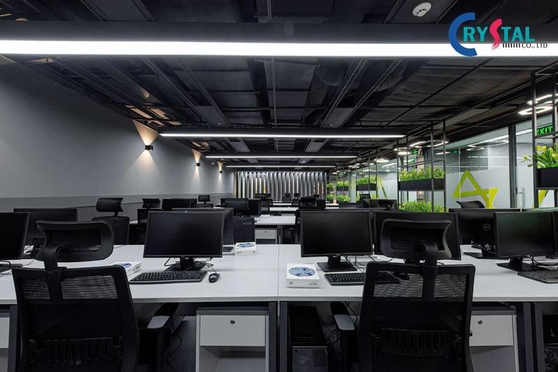 thi công thiết kế văn phòng bất động sản - Crystal Design TPL