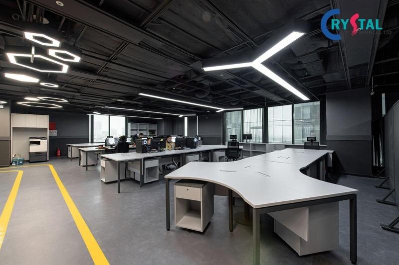 thi công thiết kế văn phòng bds - Crystal Design TPL
