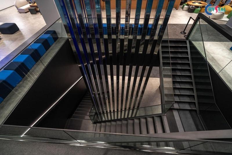 thi công văn phòng kiến trúc công nghiệp - Crystal Design TPL