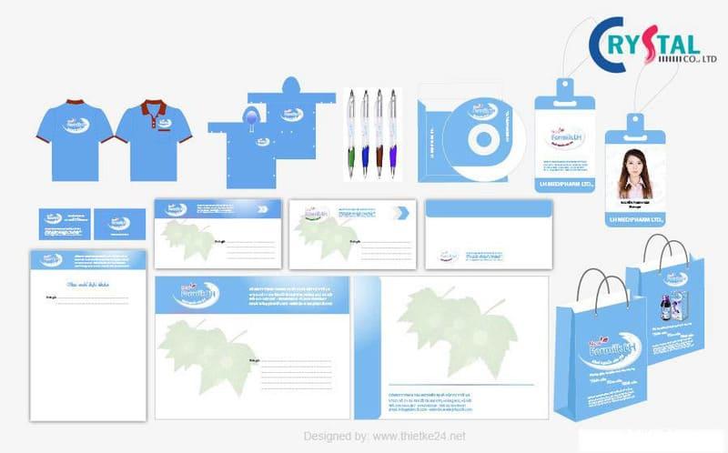thiết kế bộ nhận diện văn phòng cần có gì - Crystal Design TPL