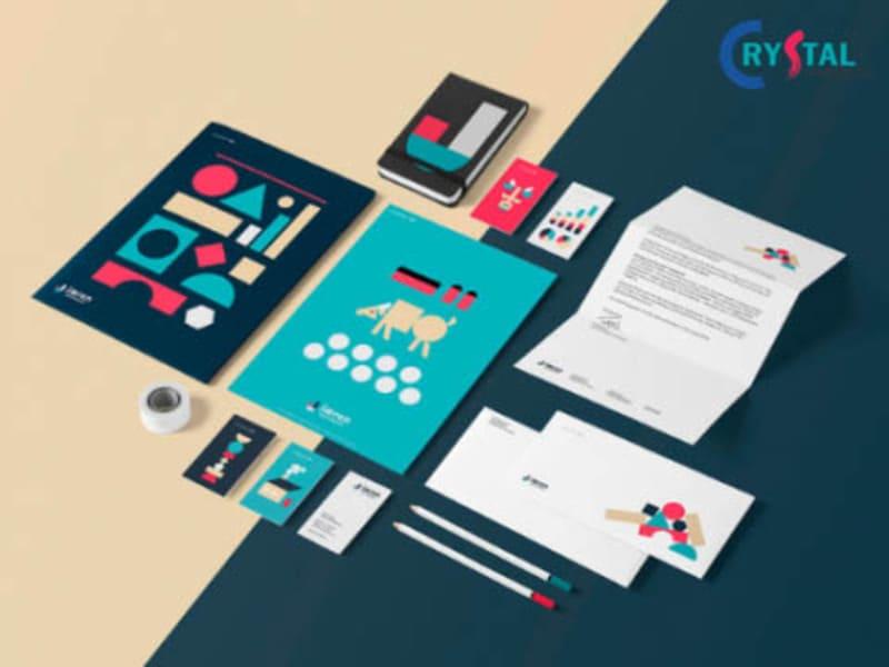 thiết kế bộ nhận diện văn phòng gồm những gì - Crystal Design TPL