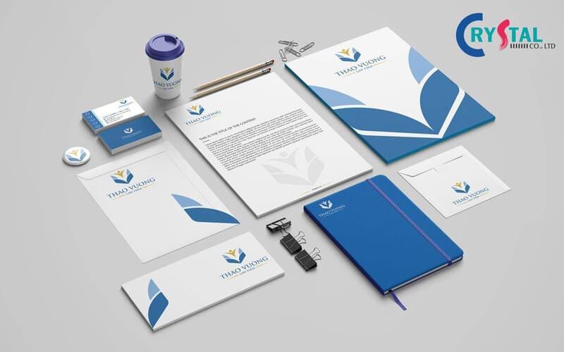 thiết kế bộ nhận diện văn phòng - Crystal Design TPL