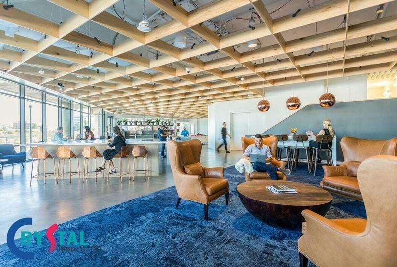 thiết kế bố trí văn phòng - Crystal Design TPL