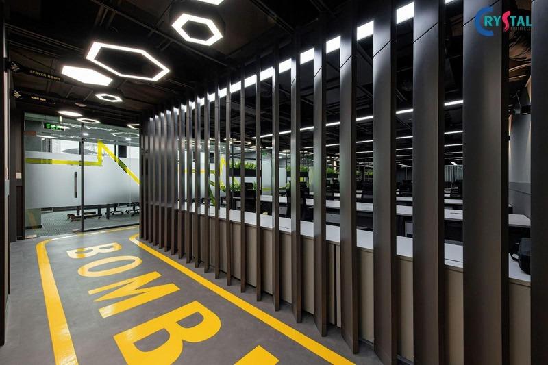 thiết kế công nghiệp văn phòng - Crystal Design TPL