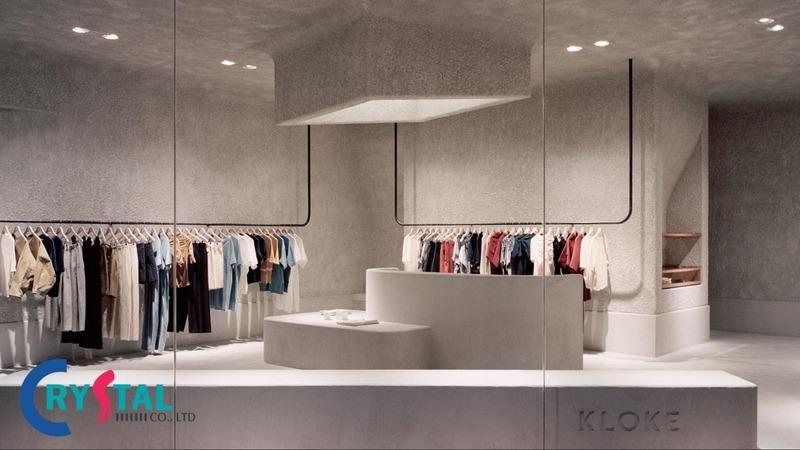 thiết kế cửa hàng ấn tượng - Crystal Design TPL