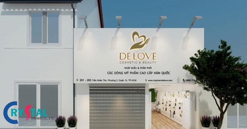 thiết kế cửa hàng bán mỹ phẩm - Crystal Design TPL