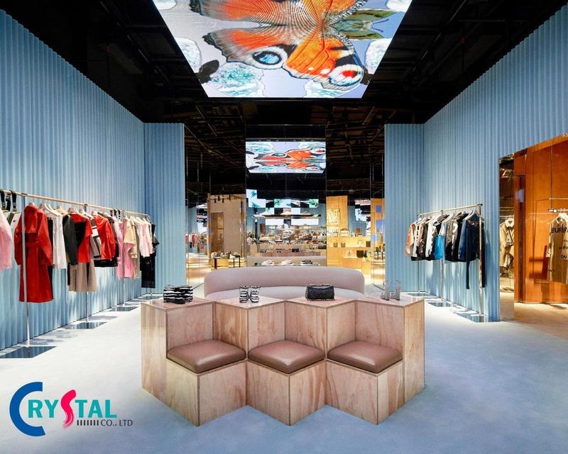 thiết kế cửa hàng đẹp - Crystal Design TPL