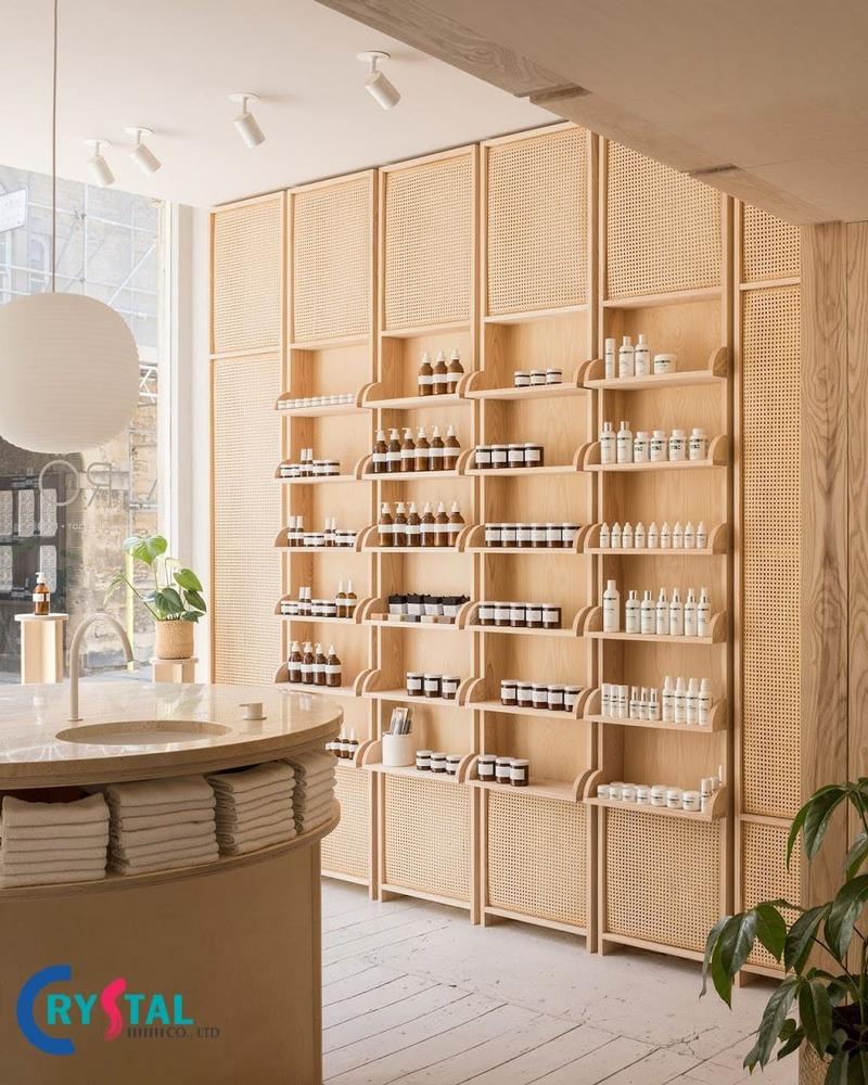 thiết kế cửa hàng mỹ phẩm nhỏ - Crystal Design TPL