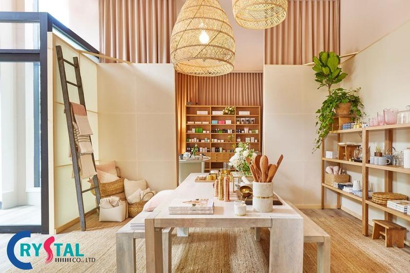 thiết kế cửa hàng mỹ phẩm - Crystal Design TPL
