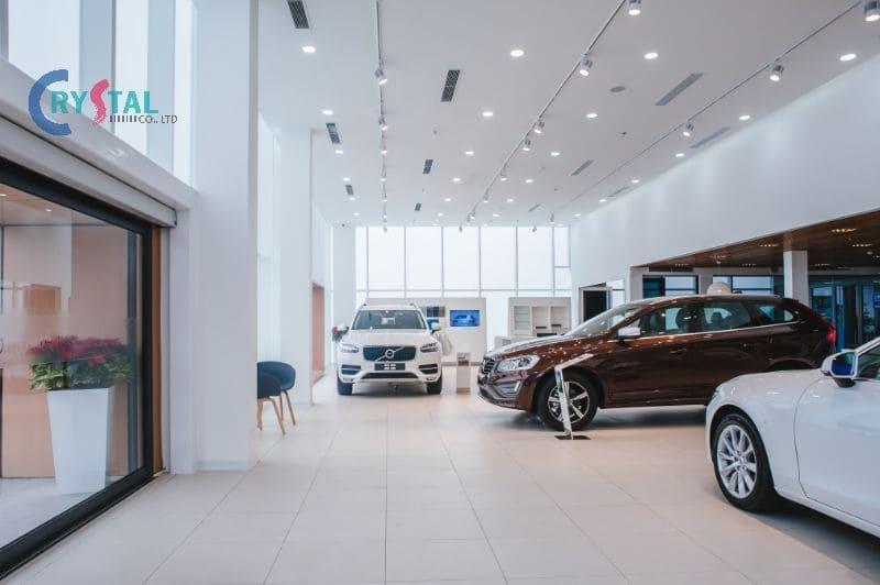 thiết kế cửa hàng nội thất ô tô - Crystal Design TPL