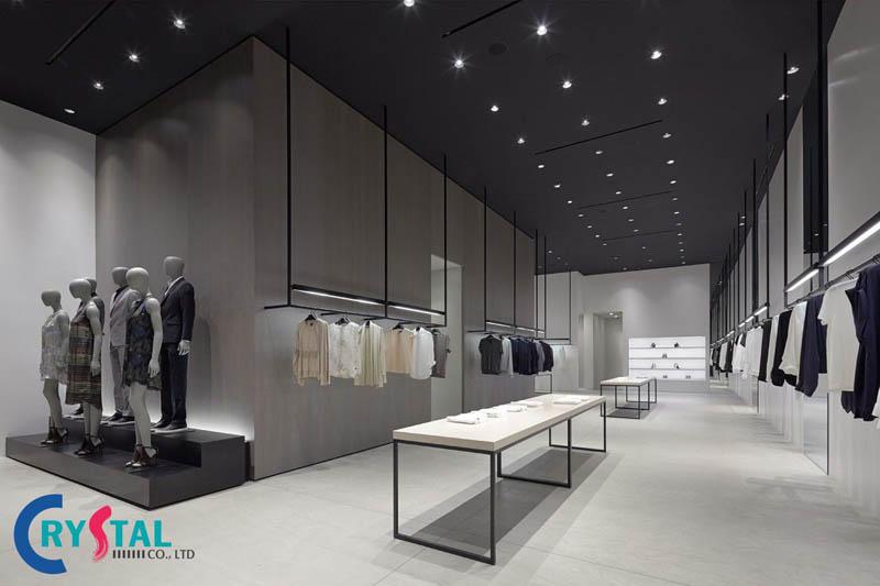 thiết kế cửa hàng quần áo đẹp - Crystal Design TPL