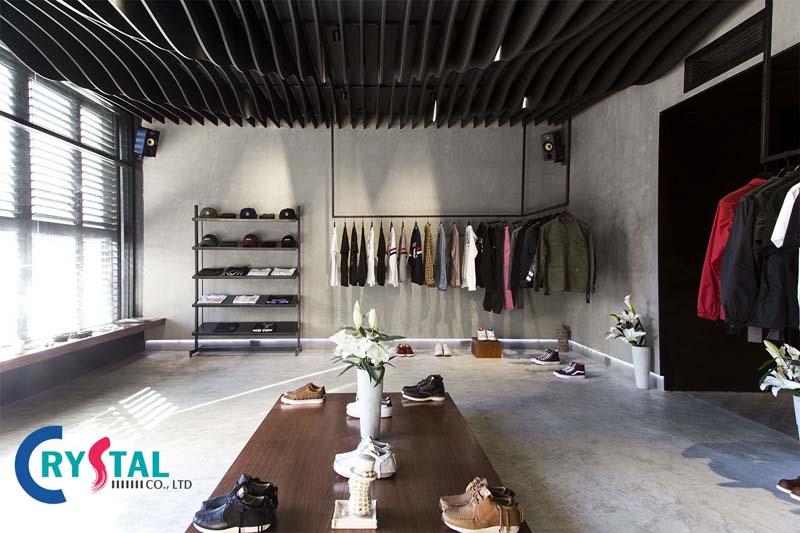 thiết kế cửa hàng quần áo diện tích nhỏ