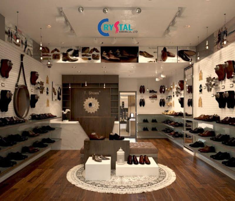 thiết kế cửa hàng quần áo nam đẹp - Crystal Design TPL