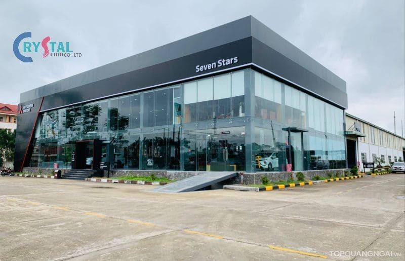 thiết kế cửa hàng showroom ô tô - Crystal Design TPL
