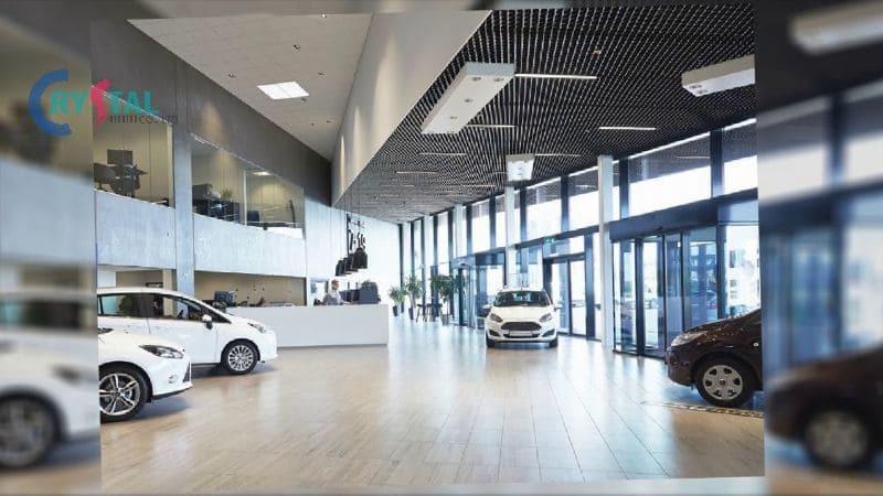 thiết kế cửa hàng showroom xe hơi - Crystal Design TPL