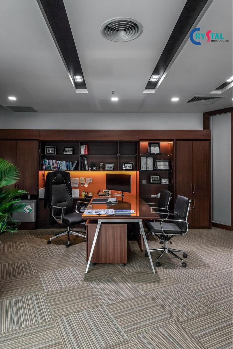 thiết kế không gian làm việc văn phòng - Crystal Design TPL