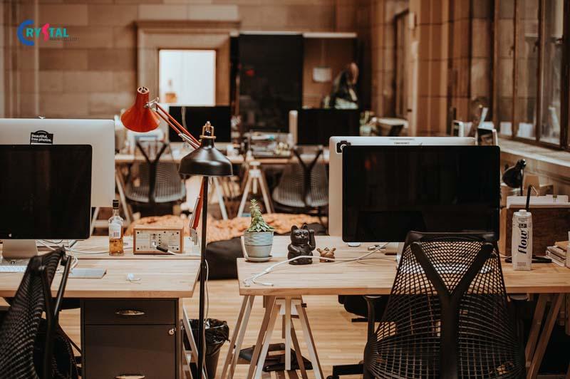 thiết kế không gian mở văn phòng làm việc