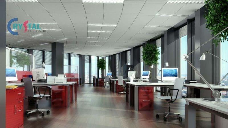 thiết kế nhà cho thuê văn phòng - Crystal Design TPL