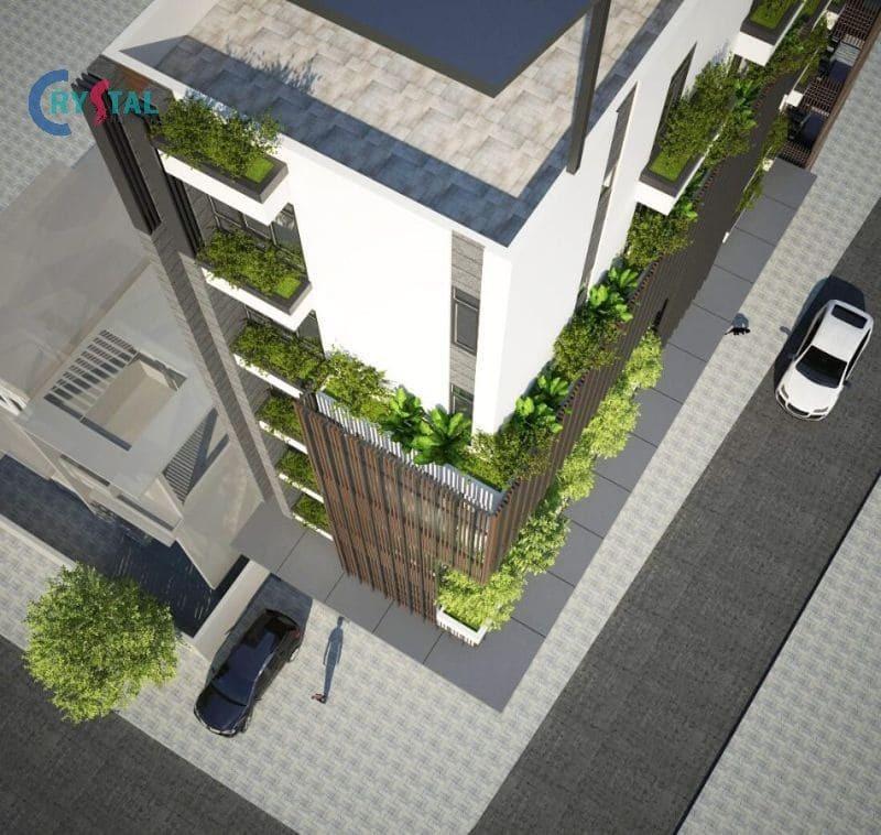 thiết kế nhà làm văn phòng cho thuê - Crystal Design TPL