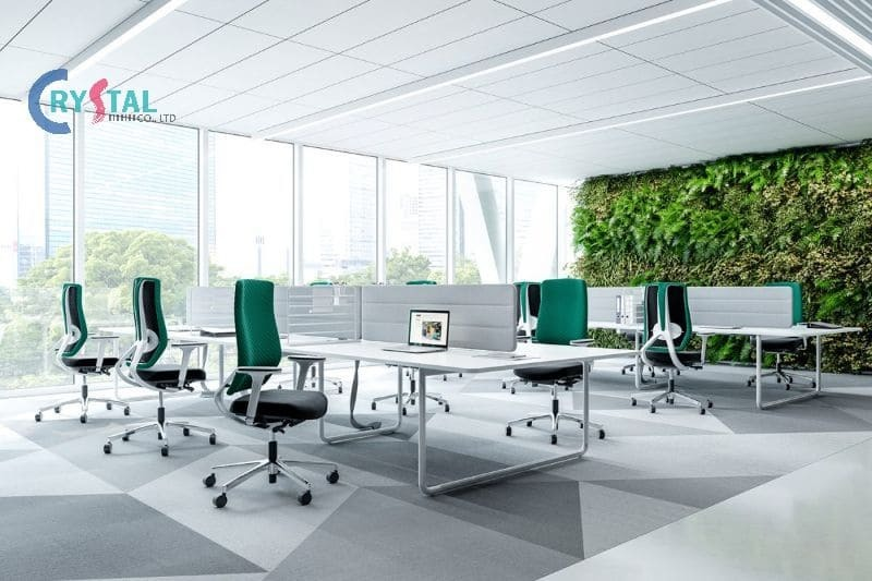 thiết kế nhà ở kết hợp văn phòng cho thuê - Crystal Design TPL