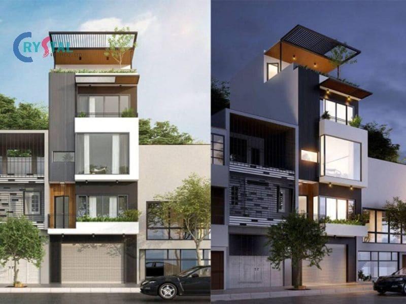 thiết kế nhà văn phòng cho thuê - Crystal Design TPL