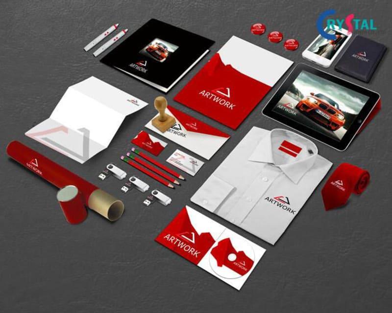 thiết kế nhận diện văn phòng - Crystal Design TPL