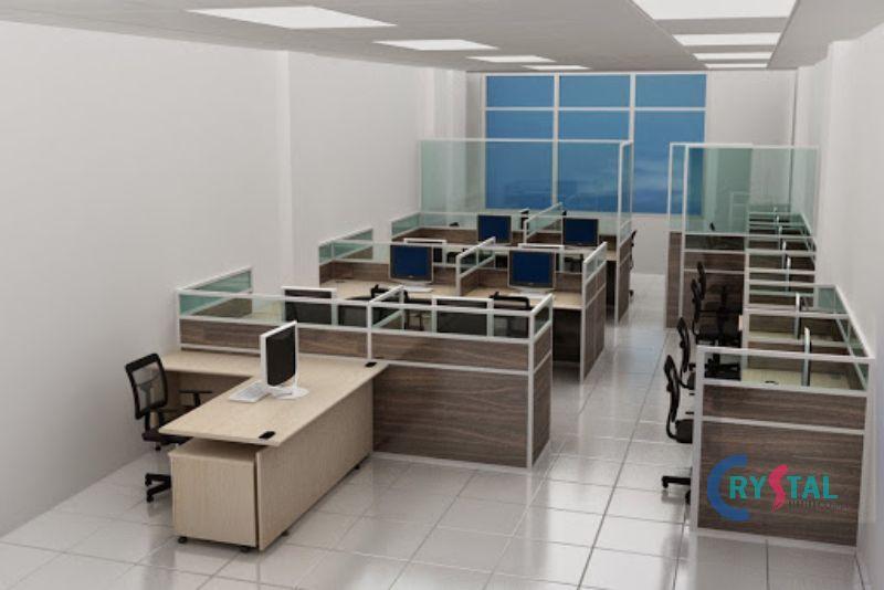 thiết kế nội thất cho phòng làm việc - Crystal Design TPL