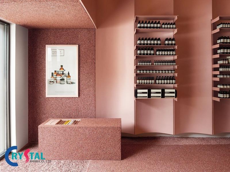thiết kế nội thất cửa hàng - Crystal Design TPL