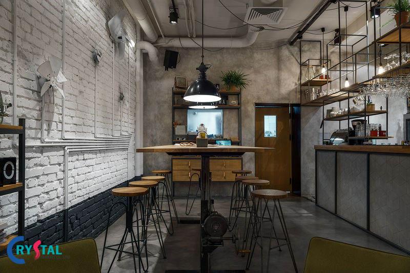 thiết kế nội thất phong cách industrial - Crystal Design TPL