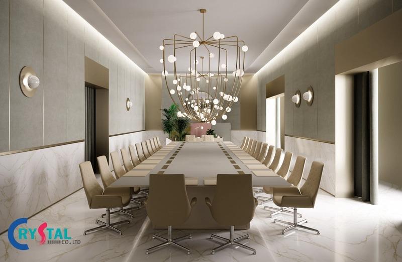 thiết kế nội thất phòng họp hiện đại - Crystal Design TPL