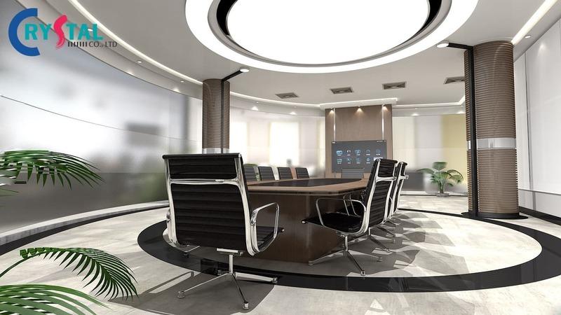 thiết kế nội thất phòng họp sang trọng - Crystal Design TPL