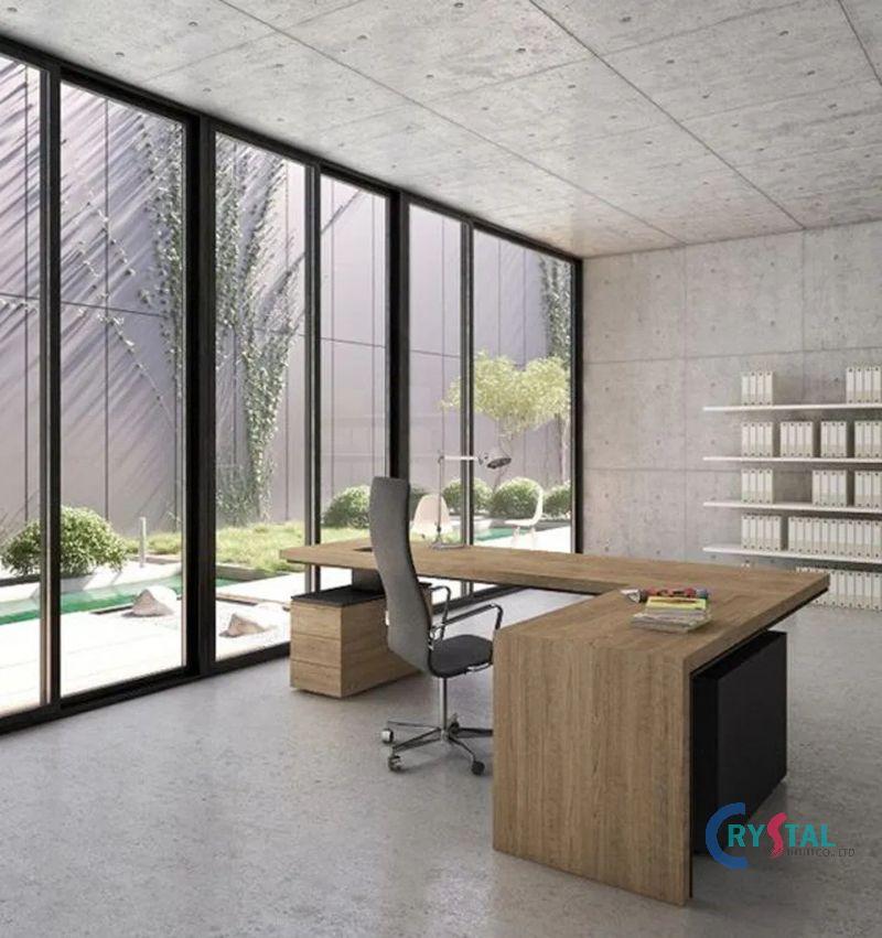 thiết kế nội thất phòng làm việc hiện đại - Crystal Design TPL