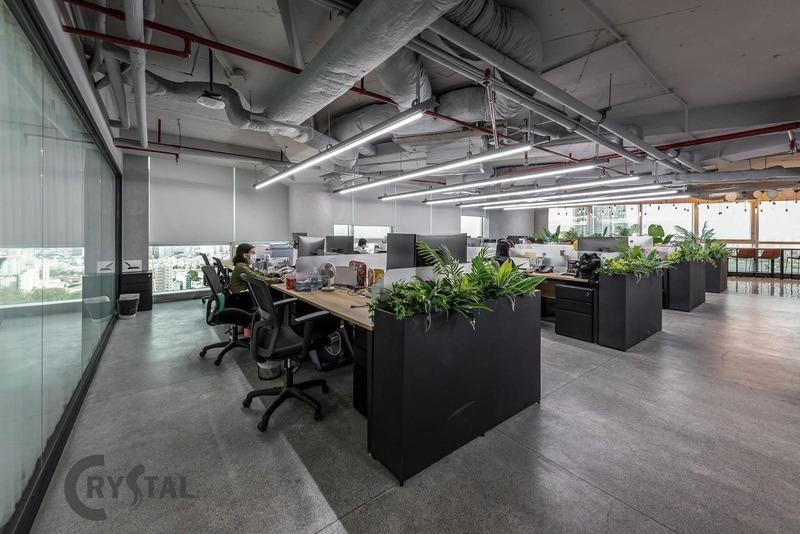 thiết kế nội thất phòng nhân viên đơn giản - Crystal Design TPL