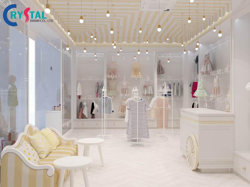 thiết kế nội thất shop quần áo chuyên nghiệp - Crystal Design TPL