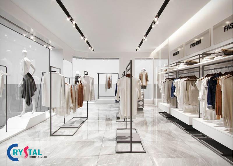 thiết kế nội thất shop quần áo thời trang - Crystal Design TPL