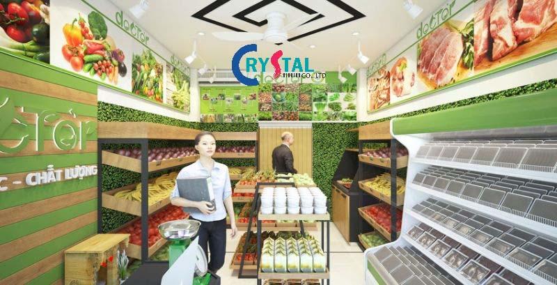thiết kế nội thất shop showroom đẹp - Crystal Design TPL