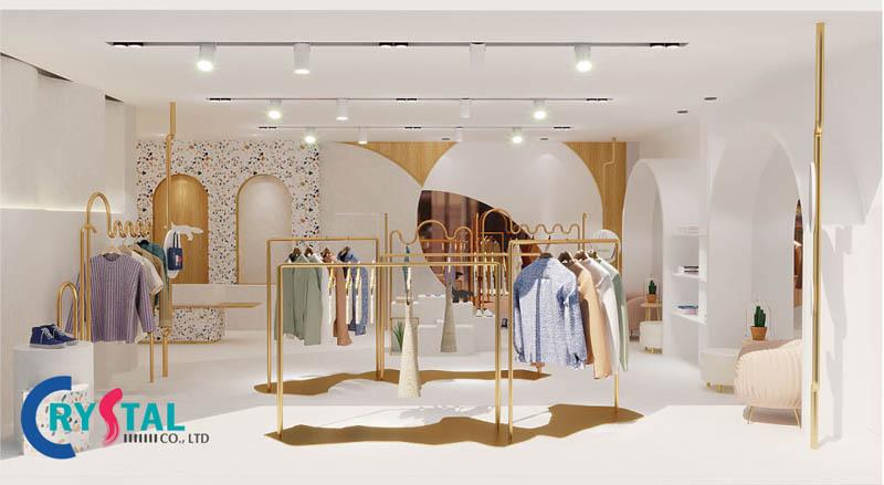 thiết kế nội thất shop thời trang đẹp - Crystal Design TPL