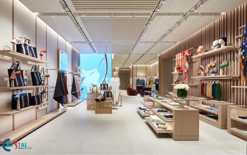 thiết kế nội thất showroom ấn tượng - Crystal Design TPL
