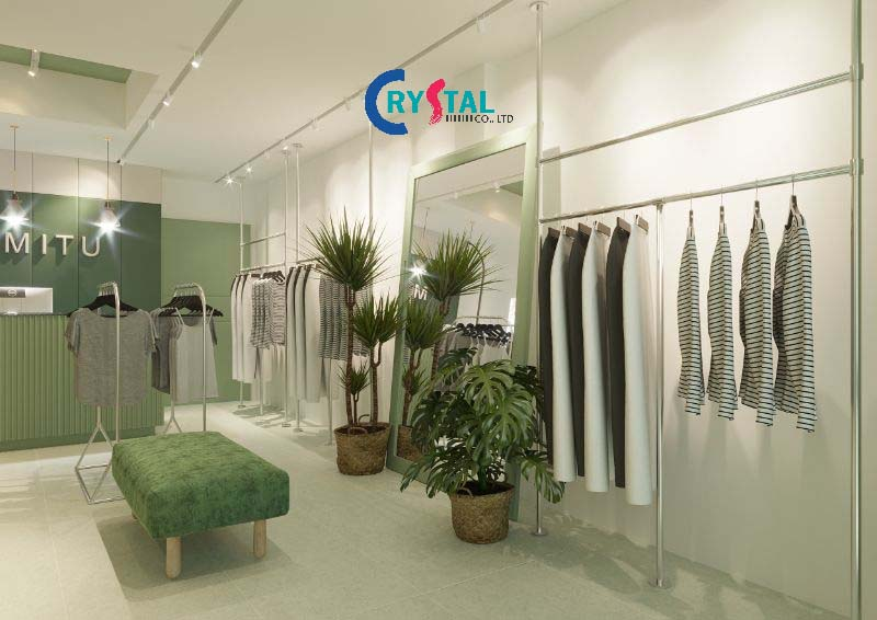 thiết kế nội thất showroom cao cấp - Crystal Design TPL