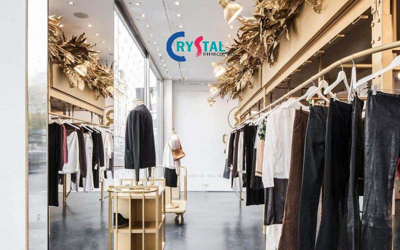 thiết kế nội thất showroom cửa hàng đẹp - Crystal Design TPL