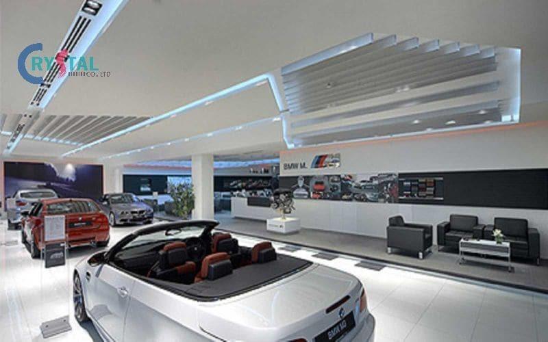 thiết kế nội thất showroom ô tô đẹp - Crystal Design TPL