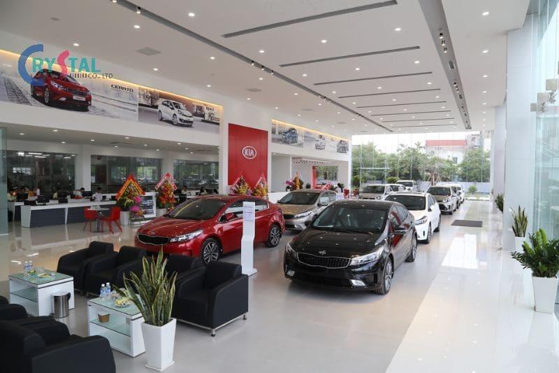 thiết kế nội thất showroom ô tô - Crystal Design TPL