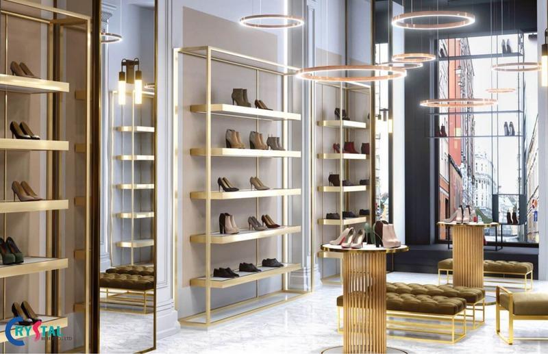 thiết kế nội thất showroom trưng bày đẹp - Crystal Design TPL