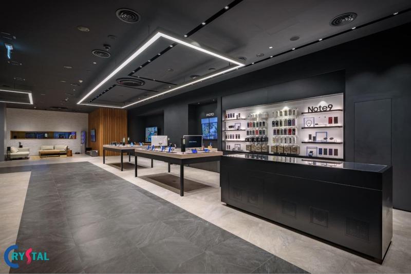 thiết kế nội thất showroom trưng bày thu hút - Crystal Design TPL