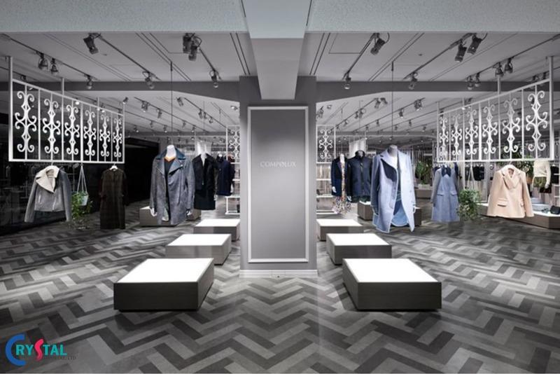 thiết kế nội thất showroom trưng bày - Crystal Design TPL