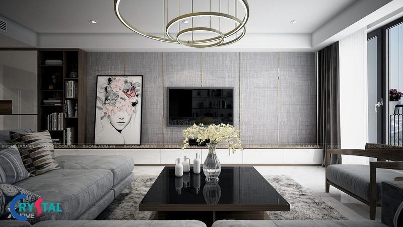 thiết kế nội thất theo phong cách hiện đại - Crystal Design TPL