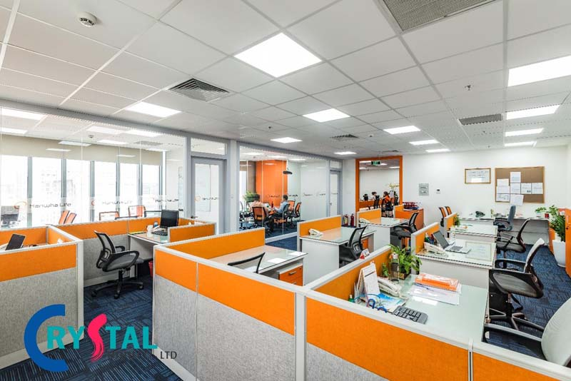 thiết kế nội thất văn phòng 100m2