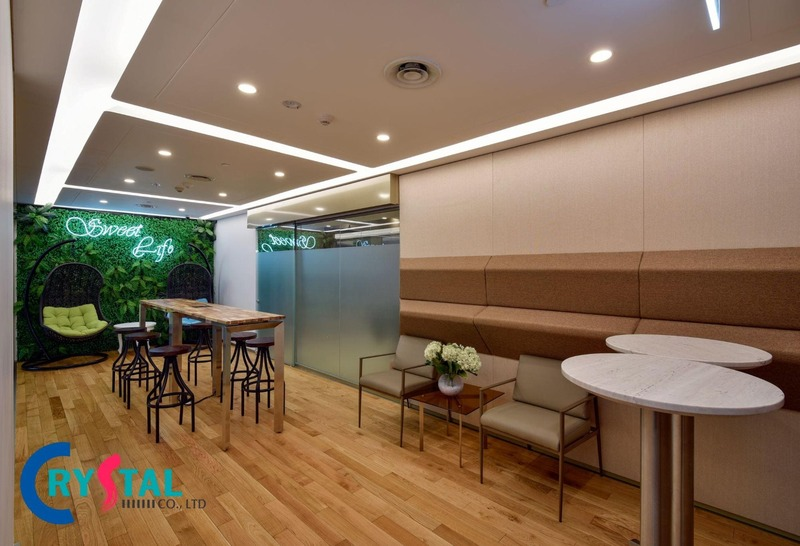thiết kế nội thất văn phòng công ty đẹp - Crystal Design TPL